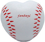 Heart Shaped Baseball Stress Balls
